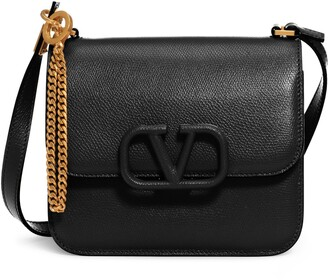 Valentino Small V-Sling Leather Shoulder Bag