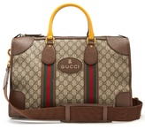 Gucci Gg Supreme Canvas And Leather Holdall
