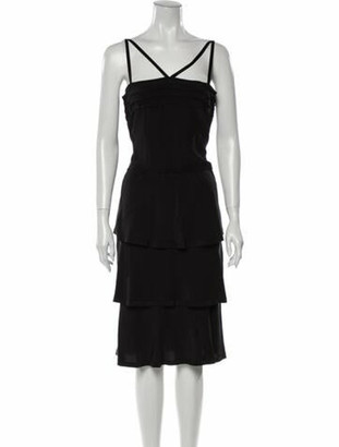 Prada Silk Mini Dress Black