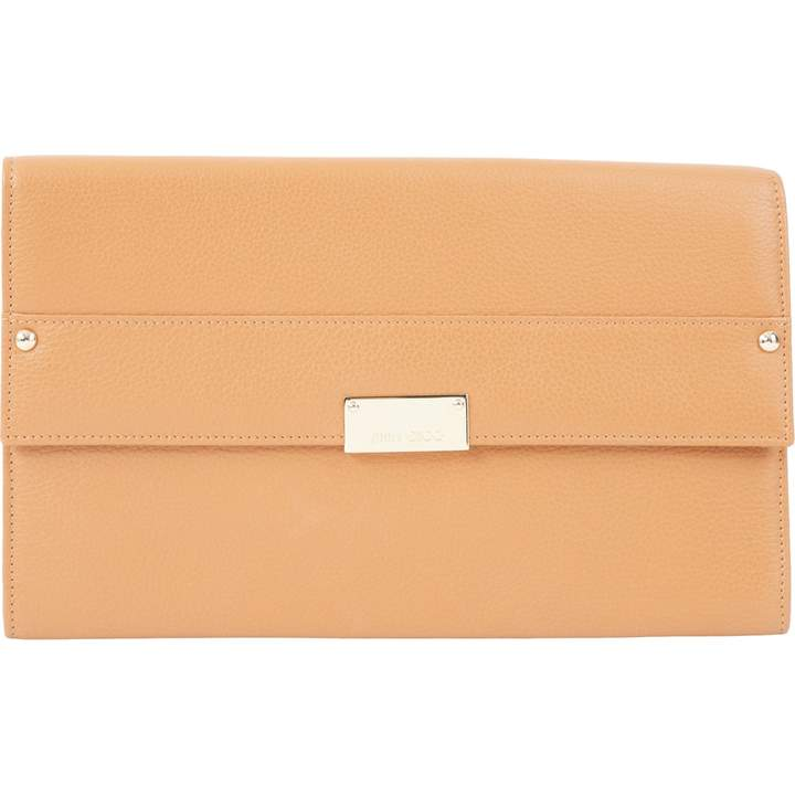 Jimmy Choo Camel Leather Clutch Bag