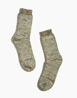 Madewell Druthers Tri-Color Merino Wool Crew Socks