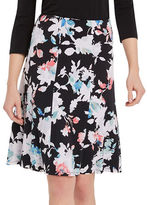 Ellen Tracy Petite Seamed Knit A-Line Skirt