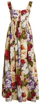 Dolce & Gabbana Floral Corset Detail Maxi Dress