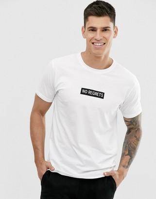 Brave Soul slogan t-shirt-White