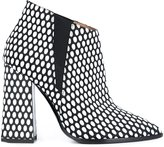 Pollini 'Lame Pop' boots - women - Calf Leather/Leather/rubber - 36