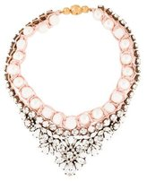 Shourouk Theresa Faux Pearl & Crystal Collar Necklace