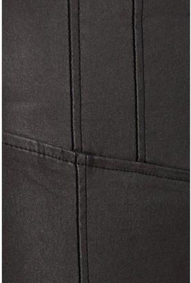Quiz PUHigh Waist Crystal Detail Zip Back Trousers - Black