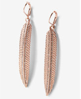 Express Pave Leaf Earrings