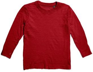 Atm Kids Slub Jersey Long Sleeve Tee - Red