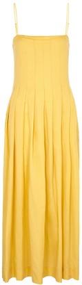 Three Graces Lucia yellow cotton maxi dress