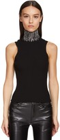 Ermanno Scervino SLEEVELESS VISCOSE KNIT TOP W/CRYSTALS