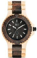 WeWood Men's Date DATE- Multicolor Wood Analog Quartz Watch with Beige Dial