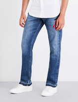 Alexander McQueen Embroidered-detail regular-fit straight jeans