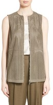 Lafayette 148 New York Women's Genesis Perforated Suede Vest