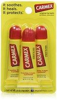 Carmex Original Flavor Moisturizing Lip Balm Tube, 6pk