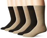 Kenneth Cole New York Men's Flat Knit Crew Socks (Pack of 6)