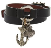 Alexander McQueen Women's Marine Leather Wrap Bracelet