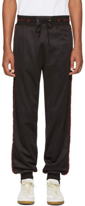 Givenchy Black Side Band Jogging Lounge Pants