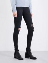 Rag & Bone Ladies Blue Distressed Casual Skinny High-Rise Jeans