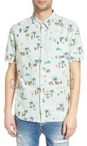 Vans Men's Canals Print Woven Shirt