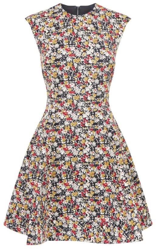 Victoria Beckham Floral A-Line Cocktail Dress
