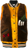 Coach Rexy bomber jacket - women - Lamb Skin/Polyamide/Polyester/Lamb Fur - 2