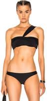Baja East Wrap Bandeau Bikini Top