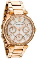 Michael Kors Parker Watch W/ Mother of Pearl Dial