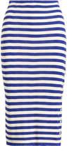 Ralph Lauren Silk Striped Pencil Skirt