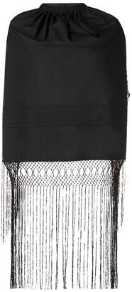 Loewe Black Backless Fringe Top