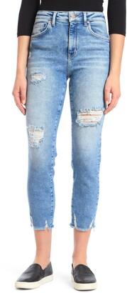 Mavi Jeans Lea High Waist Ripped Crop Boyfriend Jeans