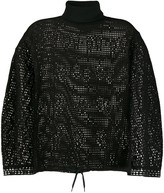 See by Chloe cage mesh knit jumper