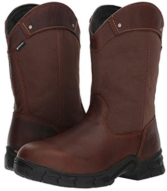 Timberland Excave Pull-On Steel Toe Waterproof (Brown) Men's Waterproof Boots