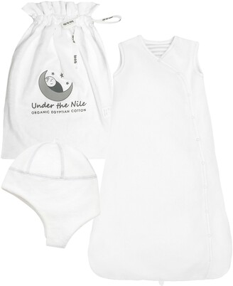 Under the Nile Organic Cotton Wearable Blanket & Hat Set
