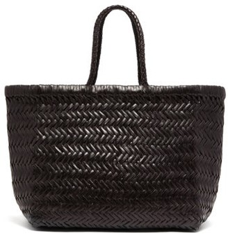 DRAGON DIFFUSION Triple Jump Small Woven-leather Basket Bag - Black