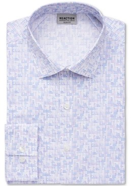 Kenneth Cole Reaction Men's Slim-Fit All Day Flex Performance Stretch Dot-Print Dress Shirt