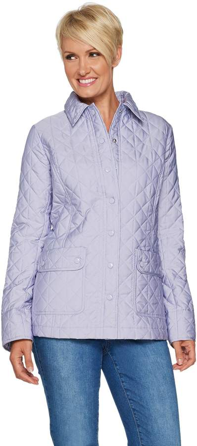 c0eddea50 Joan Rivers Classics Collection Joan Rivers Quilted Barn Jacket with Pocket  Detail