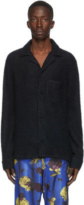 Opening Ceremony Black Mohair Knit Shirt