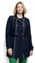 Classic Women's Plus Size Heritage Trench Coat Navy