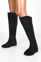 boohoo Wide Fit Wider Calf Knee High Boots