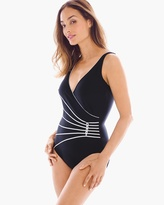 Chico's Corded Waist One-Piece Swimsuit