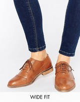 Asos Make-Up Wide Fit Leather Brogues