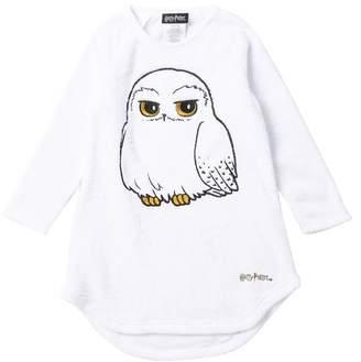 Intimo Harry Potter Hedwig Raglan Sleeve Fleece Nightgown (Little Girls & Big Girls)