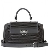 Sofia perforated leather shoulder bag