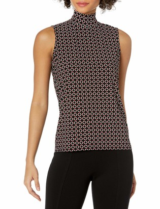 Anne Klein Women's Sleeveless Mockneck TOP
