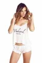 Wildfox Couture Weekend I Love Pajama Set in Vanilla