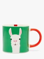 Joules Llamazing Mug, 300ml, Green/Multi