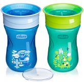 Chicco NaturalFit® 2-Pack 360-degree 9 oz. Rim Trainer Cup in Blue/Teal