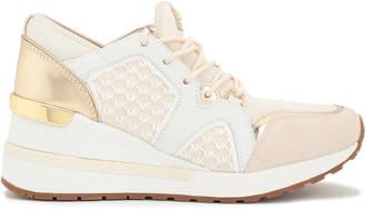 MICHAEL Michael Kors Mesh And Metallic-leather Sneakers