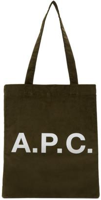 A.P.C. Khaki Lou Tote